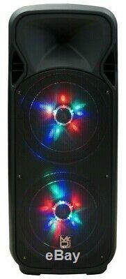 MR DJ 4000 Watts Dual 12 Rechargeable PA DJ Speaker / Bluetooth, Light, Echo