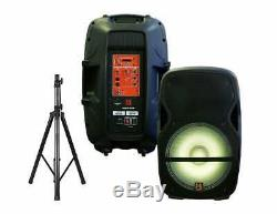 MR DJ PARTYPACK Portable 15'' Bluetooth KARAOKE Party PA DJ Audio Speaker System