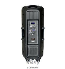 MagicBass MG-2012 Rechargeable Karaoke Party Speaker System with Bluetooth 6000W