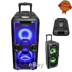 Megabox Bluetooth Speaker Party Audio Streaming Portable RGC LED Disco Lights