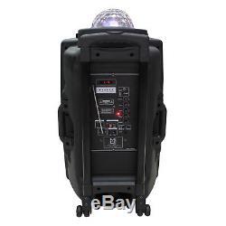 Mr. Dj 15 3000W 2-Way LED Accent Bluetooth FM SD USB Portable Radio Speaker