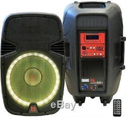 Mr Dj Pbx2690lb 15 3500w Bluetooth Active Powered Pa Dj Party Speaker + Stand