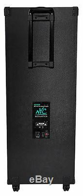 NYC Acoustics N215B Dual 15 800w Home Theater LED Party Speaker withBluetooth+Mic