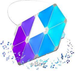 Nanoleaf Rhythm Smarter Kit 9 Modular Triangle Light Panels Visualize Your Music