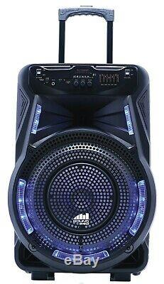 Naxa NDS-1534 15 Rechargeable Party Speaker +TWS-Bluetooth/USB/SD/FM/LED +Mic