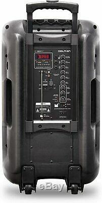 New 2021 Dolphin SP-1600RBT 3600W 15 Portable Bluetooth Party Speaker WaveSync