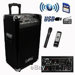 New Portable 600w Watt 10 Bluetooth Dj Party Event Speaker Wireless MIC Fm Usb