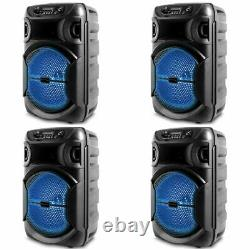 New Technical Pro 1000 W Portable LED Bluetooth Party Speaker withUSB, SOLD AS 4