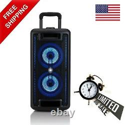 Onn. Wireless Portable Bluetooth Large Party Speaker With LED Lighting 160W Peak