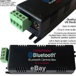 Outdoor/External Bluetooth Speaker System Mini Amplifier 4x White Speakers Kit