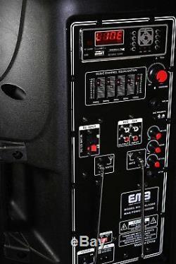 PKL5000 Dual 10 DJ Party Speaker Bluetooth Outdoor Super Bass Lights MIC