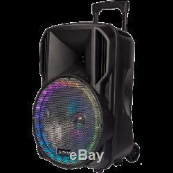 PLS 12 Portable PA Bluetooth Active Speaker System Wireless Mic DJ Karaoke