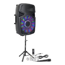 PLS 15 800W Active Speaker PA Sound System Bluetooth Stand + Microphone