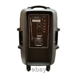 PLS PARTY-15 Pack 800W Speaker Sound System Bluetooth, Remote & Mic DJ Party