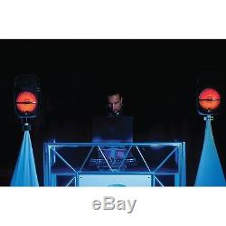 Party Box 8 Powered DJ PA Bluetooth Wireless Speaker w. LED Lights Package