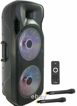 Party Light & Sound 215LED-MKII 1000w Portable Bluetooth Speaker withlights NEW