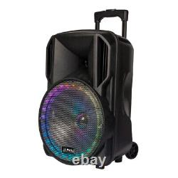 Party Light Sound PARTY-12RGB Battery PA Speaker Sound System Bluetooth + Mic