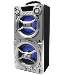 Party Speaker System Bluetooth Big Led Portable Huge Stereo Sound Tailgate Loud