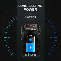 Portable 15 Bluetooth Speaker Subwoofer Heavy Bass Party DJ System Mic AUX FM