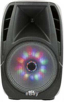 Portable Loud Speaker Bluetooth Party 7,500W 15 Inch Wireless Microphone &
