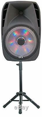 Portable Loud Speaker Bluetooth Party 7500W 15 Inch Wireless Microphone & St