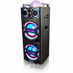 Pyle PSUFM1043BT Portable Bluetooth Speaker System with Flashing Party Lights