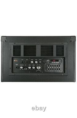 QFX 2 x 12 Bluetooth Party PA Karaoke Speaker System Touch Screen 11 Tablet FM