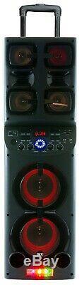 QFX PBX-1010 2X 6.5 Rechargeable Party Speaker+TWS Bluetooth+USB/SD/FM/LED+Mic