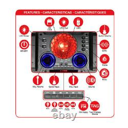 QFX PBX-1212 Dual 12 High Powered Rechargeable Bluetooth Party Speaker