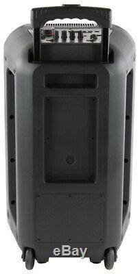 QFX PBX-210 Rechargeable Karaoke Party Speaker System with Bluetooth 2x10