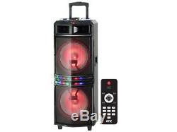 QFX PBX-3103 2 x 10 Rechargeable PA Party Speaker +Bluetooth +USB/SD/FM/LED
