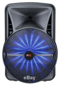 QFX PBX-BF25 15 Rechargeable Party Speaker +APP-Control +Bluetooth +USB/SD/FM