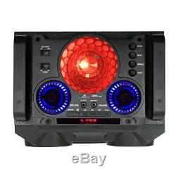 QFX PBX8122 Portable Bluetooth Party Speaker with Dual 12 Woofers