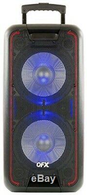 Qfx Pbx100 Bt Pa Party Spkr 10in Prtbl Light Black Speaker