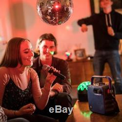 Qtx 100.606 Portable Bluetooth Speaker with Wireless VHF Mic for Parties New