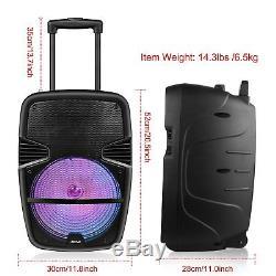 RC Portable BT Bluetooth Speaker 360° Stereo Tailgate Loud Party Karaoke +MIC