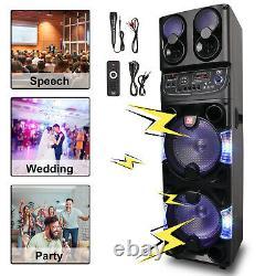 Rechargable Bluetooth Speaker Dual 10 Subwoofer Tweeter Party Speaker FM Karaok