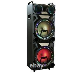 Rechargeable Bluetooth 12inch Double Subwoofer Portable Party Speaker