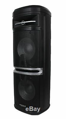 Rockville Go Party X10 Rechargeable DJ Backyard Party Speaker withBluetooth+Mic