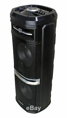 Rockville Go Party X10 Street Performer Performance Battery Speaker+Guitar Input