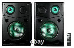 Rockville HOUSE PARTY SYSTEM 10 1000w Bluetooth LED Booming Bass Home Speakers