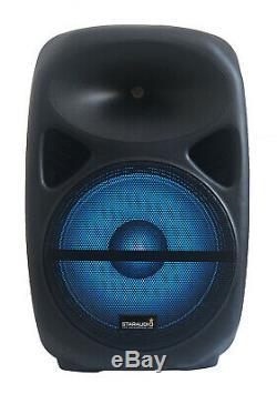 STARAUDIO 15 2500W PA Powered RGB Light Speaker DJ Party KTV Bluetooth Speaker