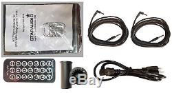 STARAUDIO Pair 10 1500 Watt DJ PA Party Speakers w Bluetooth Power Mixer Stand
