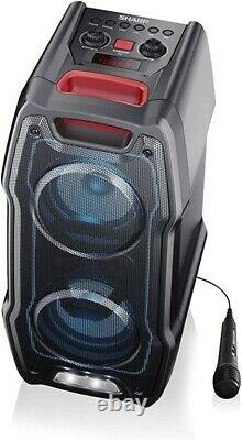 Sharp PS-929 180W High Power Portable Party Speaker Light Bluetooth + Microphone