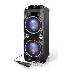 Sharp PS-940 180W Rechargeable Bluetooth Portable Party Speaker with Disco Light