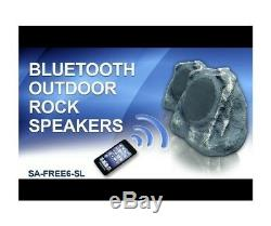 Solar Charge Bluetooth Outdoor Speakers 2 Pc Wireless Waterproof Backyard Party