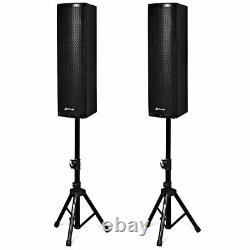 Sonart 2000W 2PCS Bi-Amplified Bluetooth Speakers PA System 3-Channel Home Party