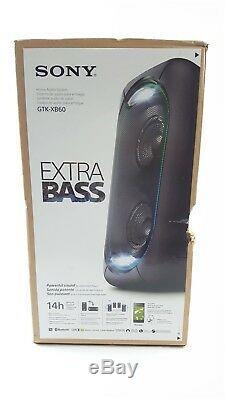 Sony GTKXB60 Wireless Portable Rechargeable Bluetooth Party DJ Speaker NEW