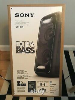 Sony Gtk-xb5 High Power Party Speaker Bluetooth Nfc Lights Up System New Black