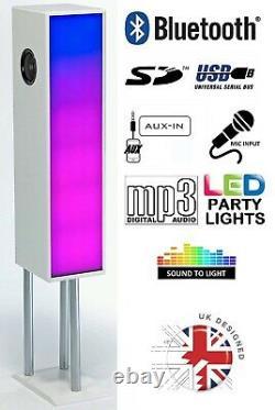 Steepletone Large Bluetooth Megasound Party Speaker System with LED Disco Lights